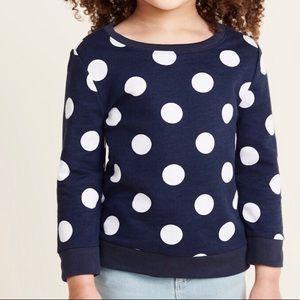 ✅ 5 for $25 - Polka Dot Sweatshirt, Navy and White